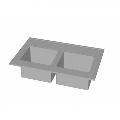 zlew dwukomorowy D1275-LP